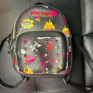 Betsey Johnson Convertible Emoji Backpack